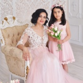 Комплект для мамы и дочки (нежно-розовый)
