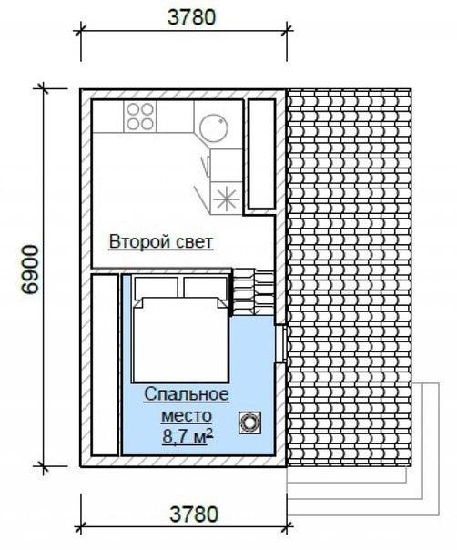 Эскиз проекта каркасно-щитового дома