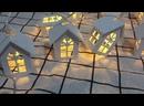 Светодиодный деревянный домик, гирлянда, 1,5 м, 10 светодиодный