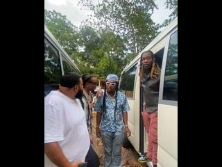 DJ Khaled и Migos на съемках нового видеоклипа в Ямайке.
