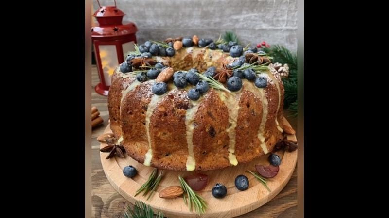 рождественский кекс с пьяными фруктами