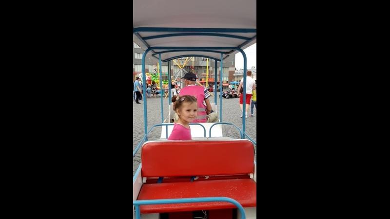 Автобусик на Красной площади. День города.