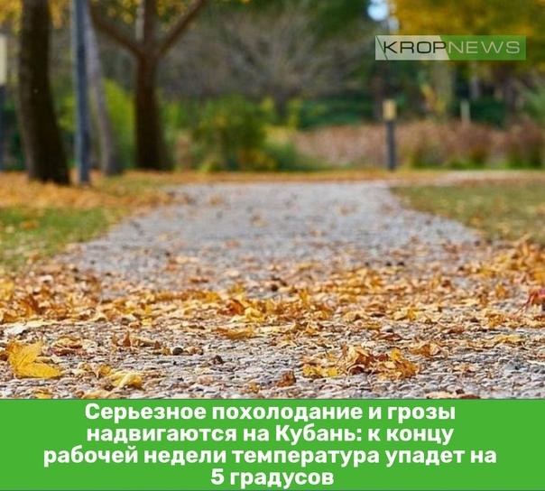 Серьезное похолодание и грозы надвигаются на Кубань: к ко...