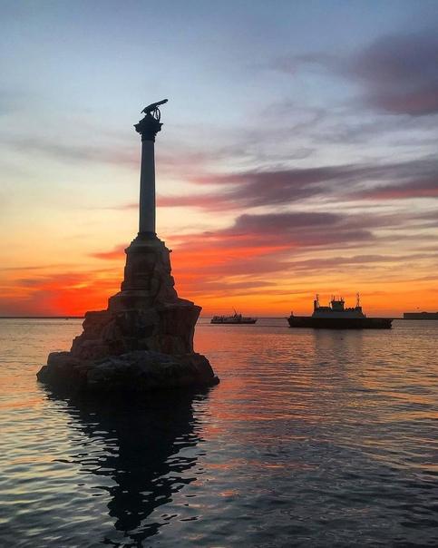 Памятник Затопленным Кораблям на закате???? Севастополь