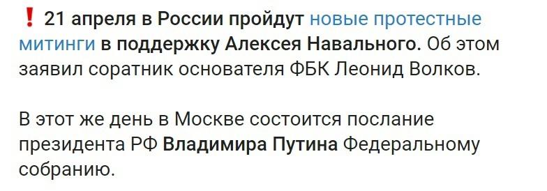 Леонид Волков зовет свою паству на улицы.