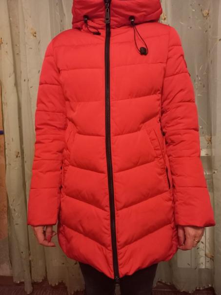 Пуховик женский очень теплый на холодную зиму, раз...
