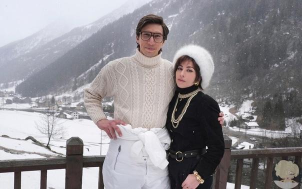 Леди Гага показала первое фото со съемок фильма о семье Гуччи, где она играет вместе с Адамом Драйвером