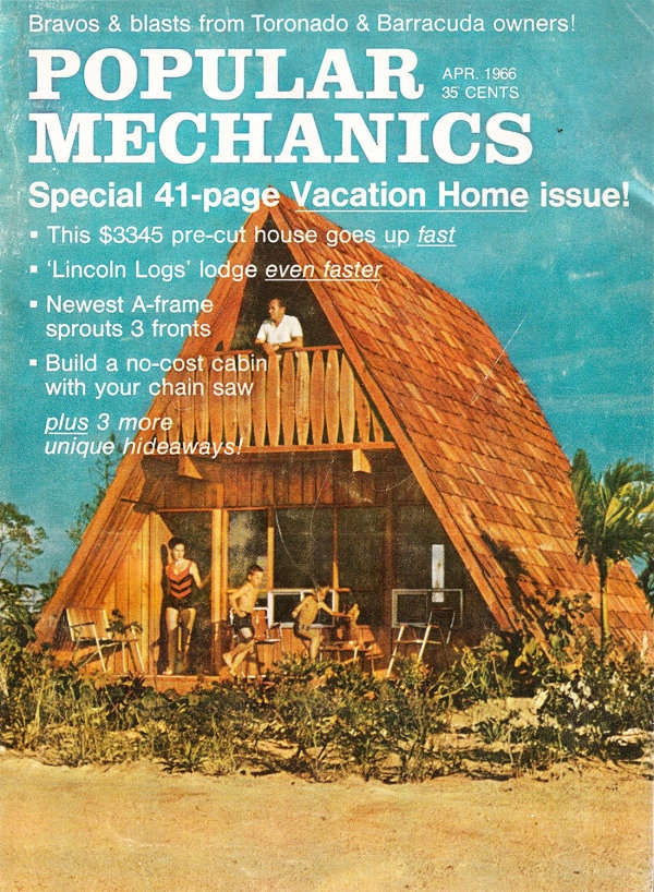 Дом для отпуска Popular Mechanics Выпуск, апрель 1966 г.