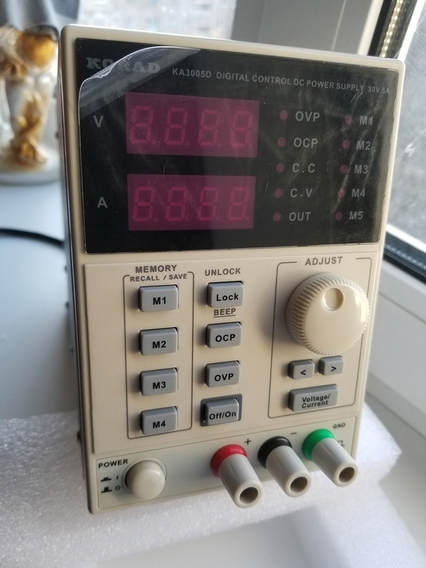 Лабораторный блок питания Korad KA3005D (30 В, 5 А)