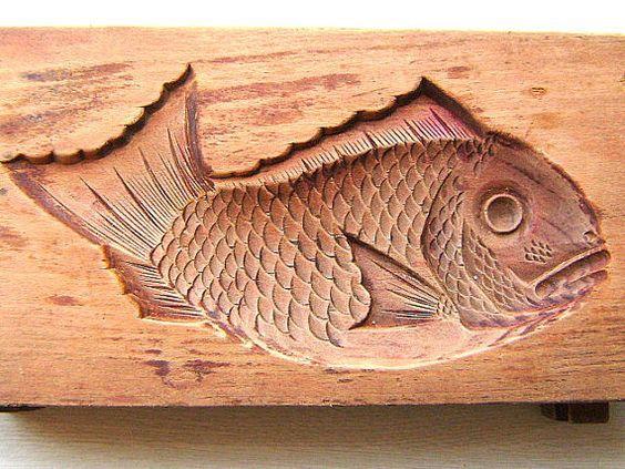 Японские деревянные резные формы Кашигата, изображение №8