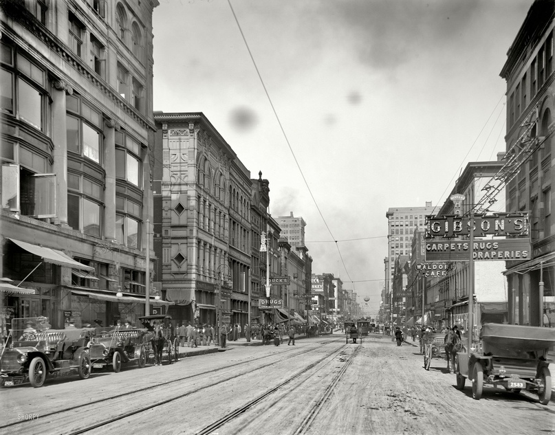 HD-фотографии городов США сделанные в 1900-1915 годах, изображение №7
