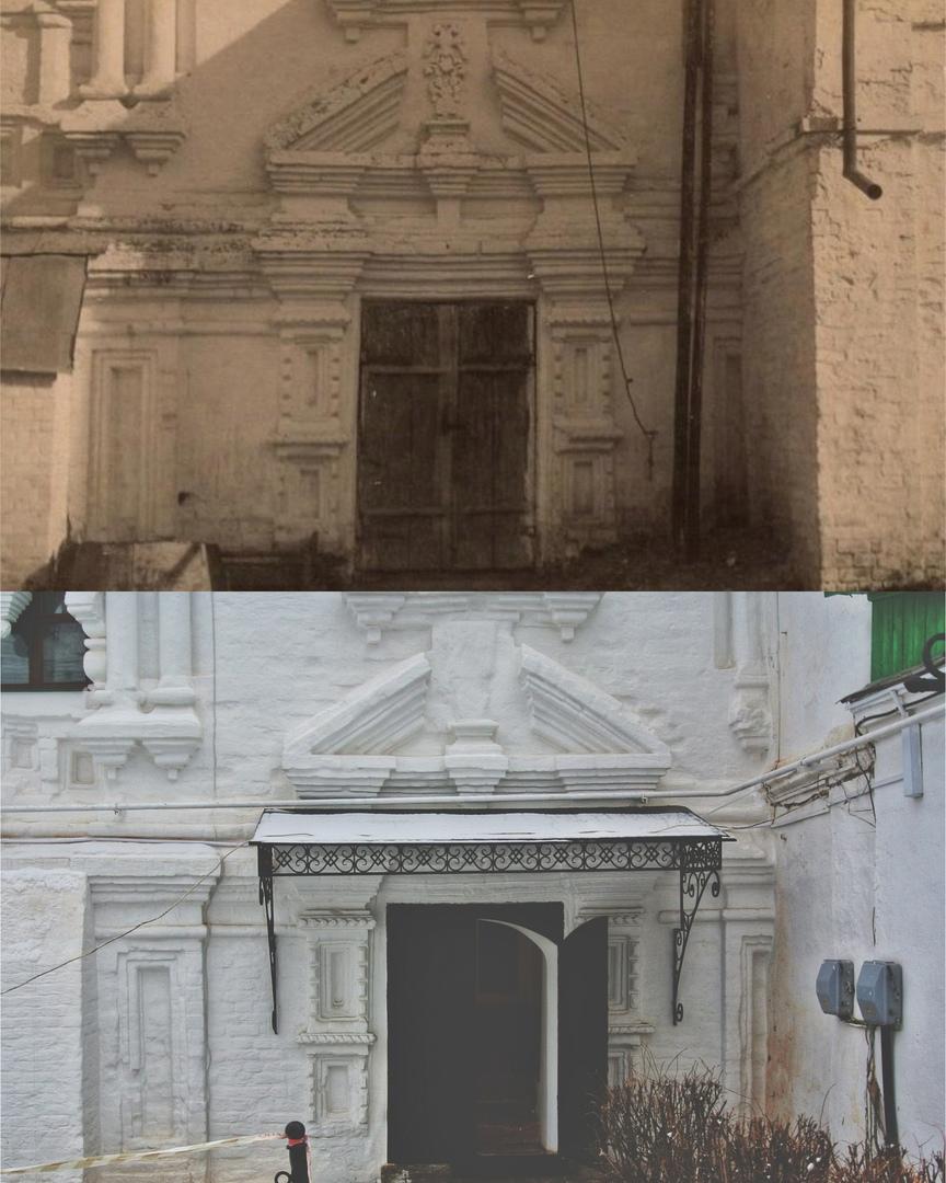 Вход в колокольню Троицкого монастыря 1930-е /2020 гг.