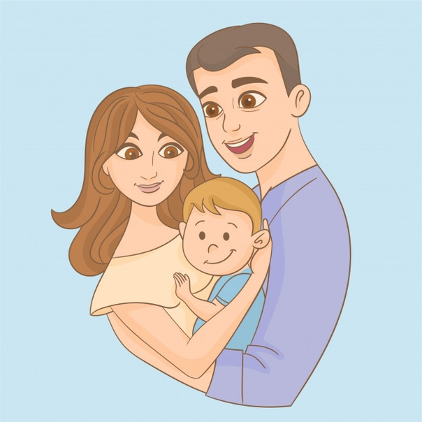 Детские картинки папы с ребенком