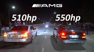 Битва около стоков 😃 MBenz W211 E55 550hp VS Subaru Legacy BP5 300hp