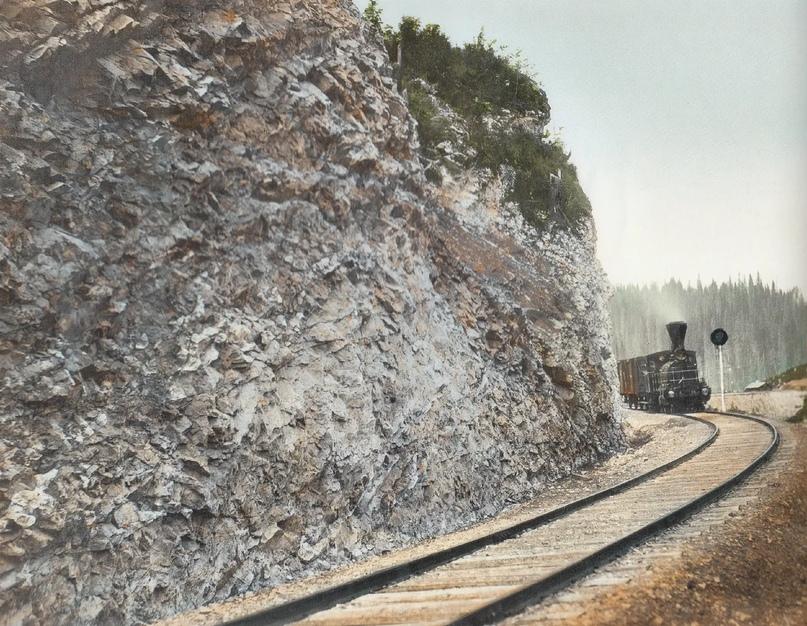 Первозданная железнодорожная Россия в цвете эпохи царской Империи глазами неизвестного фотографа, изображение №14