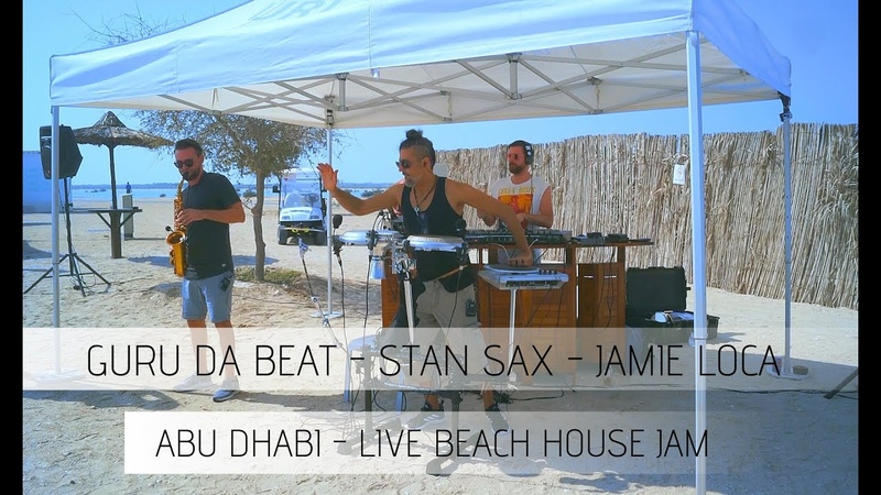 Beach house music live set house music live dj set Percussion saxophone Guru Da Beat x Stan Sax