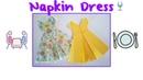 Napkin Folding: Dress👗 How to Fold Fancy Looking Napkins👗