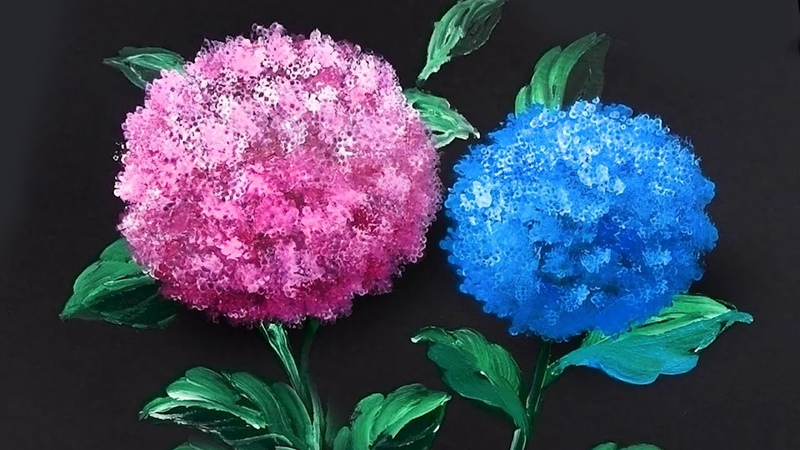 'Hydrangea' Acrylic Painting Technique for Beginners