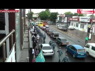 сопровождение крымских татар полицией