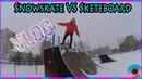 Vlog Snowskate VS skateboard как почистить наждак