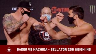 RYAN BADER VS LYOTO MACHIDA WEIGH IN & FACEOFF AHEAD OF BELLATOR 256