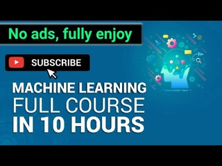 Machine Learning Full Course  Learn Machine Learning 10 Hours | Machine Learning Tutorial