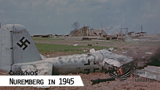 Nuremberg Airport in the days after having been taken by the U.S. Army, April 1945