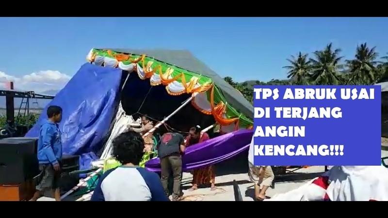 TPS DI BATUDAA AMBRUK USAI DI TERJANG ANGIN KENCANG