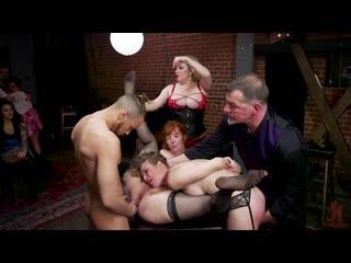 Aiden Starr, Ashley Lane, Lauren Phillips - Anal Sluts Subjugated at BDSM Swinger Orgy [BDSM, Bondage, Anal, Anal Fingering]