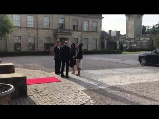 Ms. Meghan Markle arrives at Cliveden House Hotel, accompanied by her mother Ms. Doria Ragland