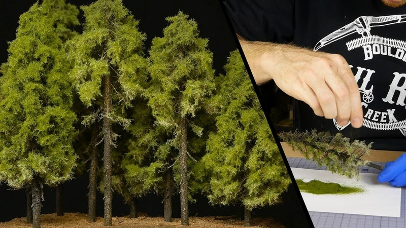 Amazing Tall Forest Pine Trees – Model Railroad Scenery