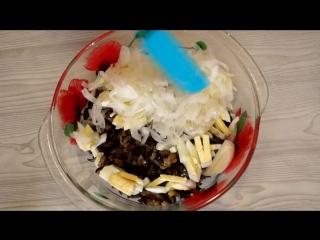 Шикарный салат из Баклажанов. Удивите себя и своих гостей загадочным вкусом салата