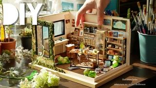 DIY☺︎miniature my atelier dollhouse ミニチュアHanabira工房の仕事部屋 Retro (antique) furniture レトロな家具の作