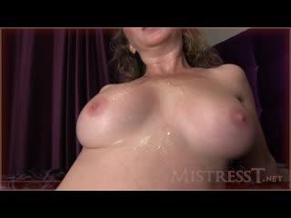 Mistress T cuckold cleanup after sex