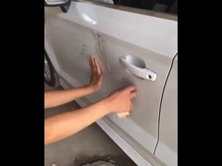 Как отремонтировать вмятину на современном автомобиле своими руками