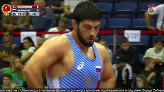 Медведева2021 92kg 1_2 Омаргаджи Магомедов (Беларусь) - Саид Ахмадов (Россия)