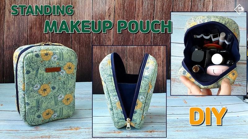 DIY STANDING MAKEUP BAGINBAG POUCH Makeup bag sewing tutorial Tendersmile Handmade