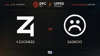 4 Zoomers vs Sadboys, Dota Pro Circuit 2021: S1 - NA, bo3, game 2 [Mila & Smile]