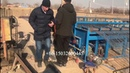 Semi automatic crimped mesh machine